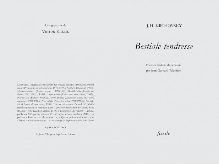 Ve Francii vychází výbor z poezie J. H. Krchovského