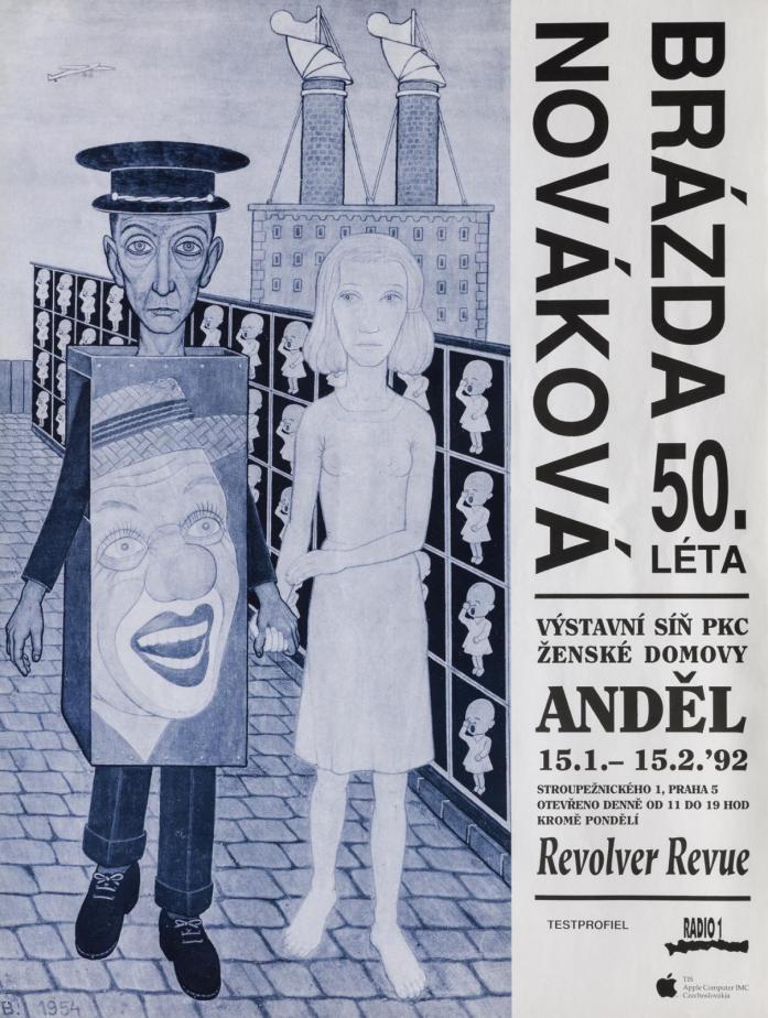 Originální plakát k výstavě Pavla Brázdy a Věry Novákové z roku 1992