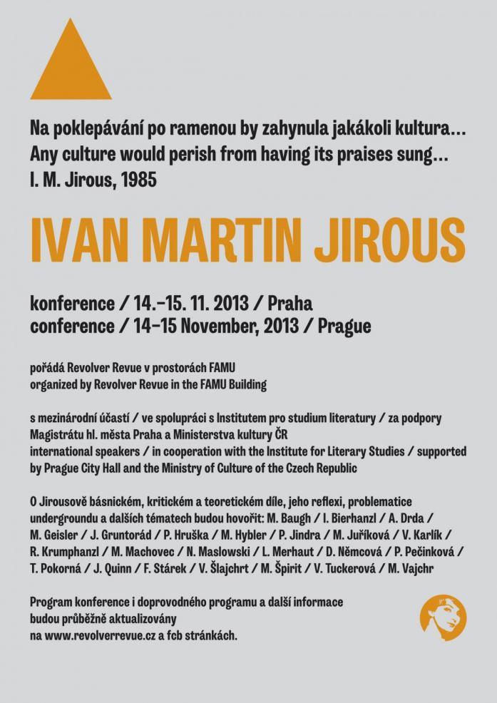 POZVÁNÍ / KONFERENCE / I. M. JIROUS