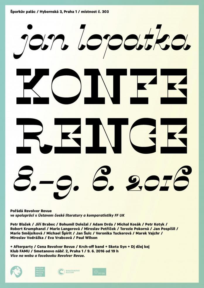 Plakát Konference Jan Lopatka - velký