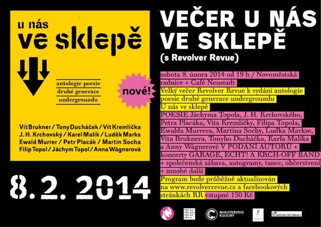 VEČER U NÁS VE SKLEPĚ s Revolver Revue / 8. 2. 2014