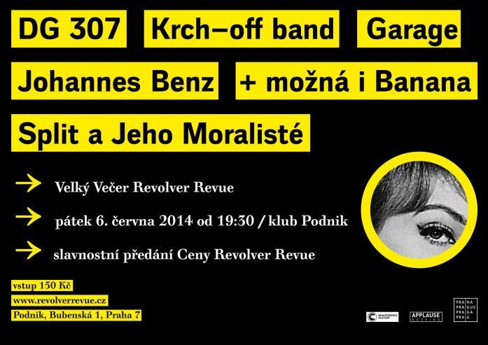 Pozvání / Cena Revolver Revue pro Pavla Zajíčka na Večeru RR 6. 6. / klub Podnik