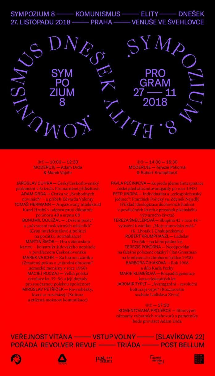 Sympozium 8 (komunismus – elity – dnešek) / program